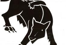 Bestiaro senese in serigrafia – Lupa
