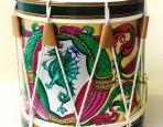Pittura su tamburo della Contrada del Drago
